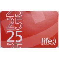Карточка пополнения счета Life:) 25 (8697543410018)