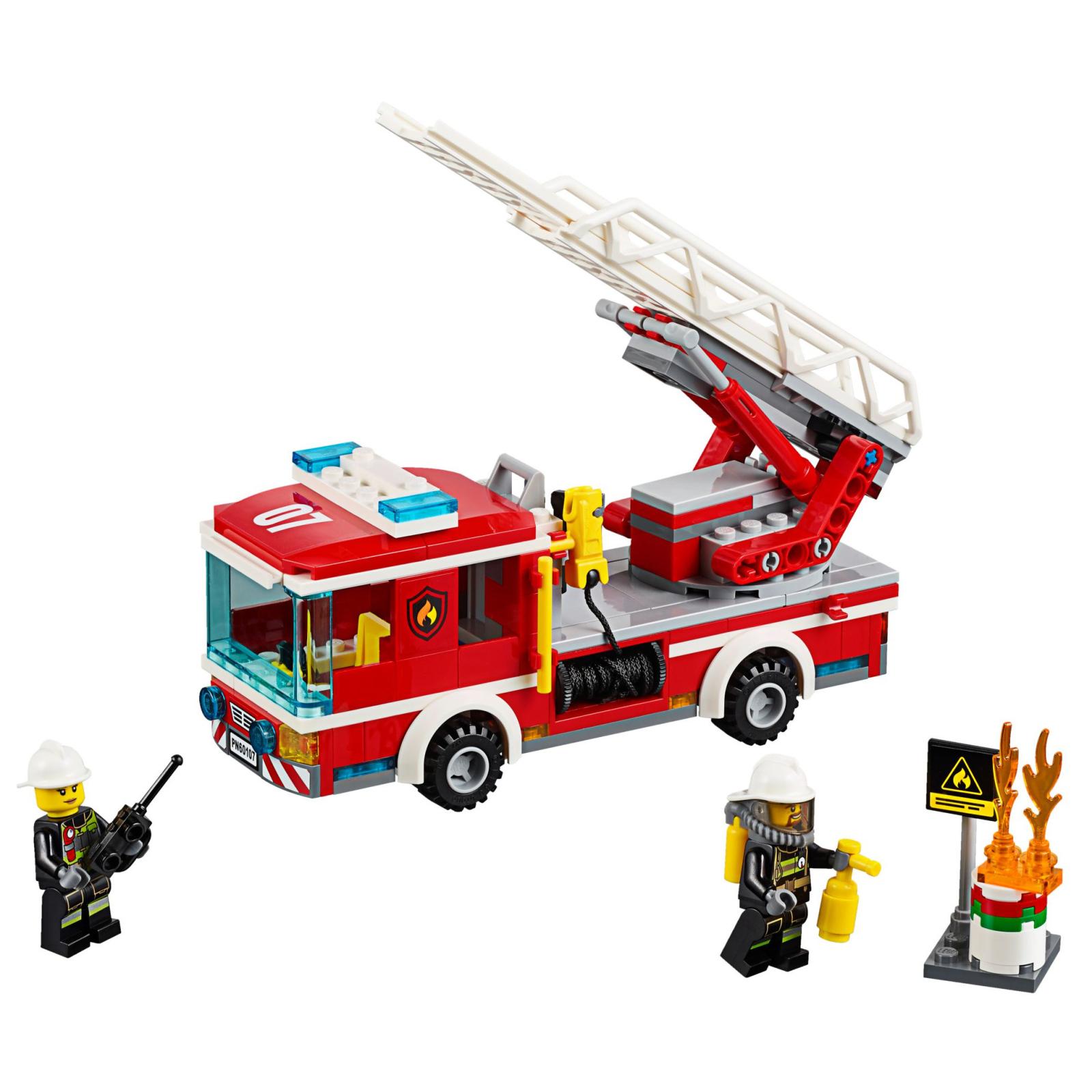 Конструктор LEGO City Fire Пожарный автомобиль с лестницей (60107) изображение 2