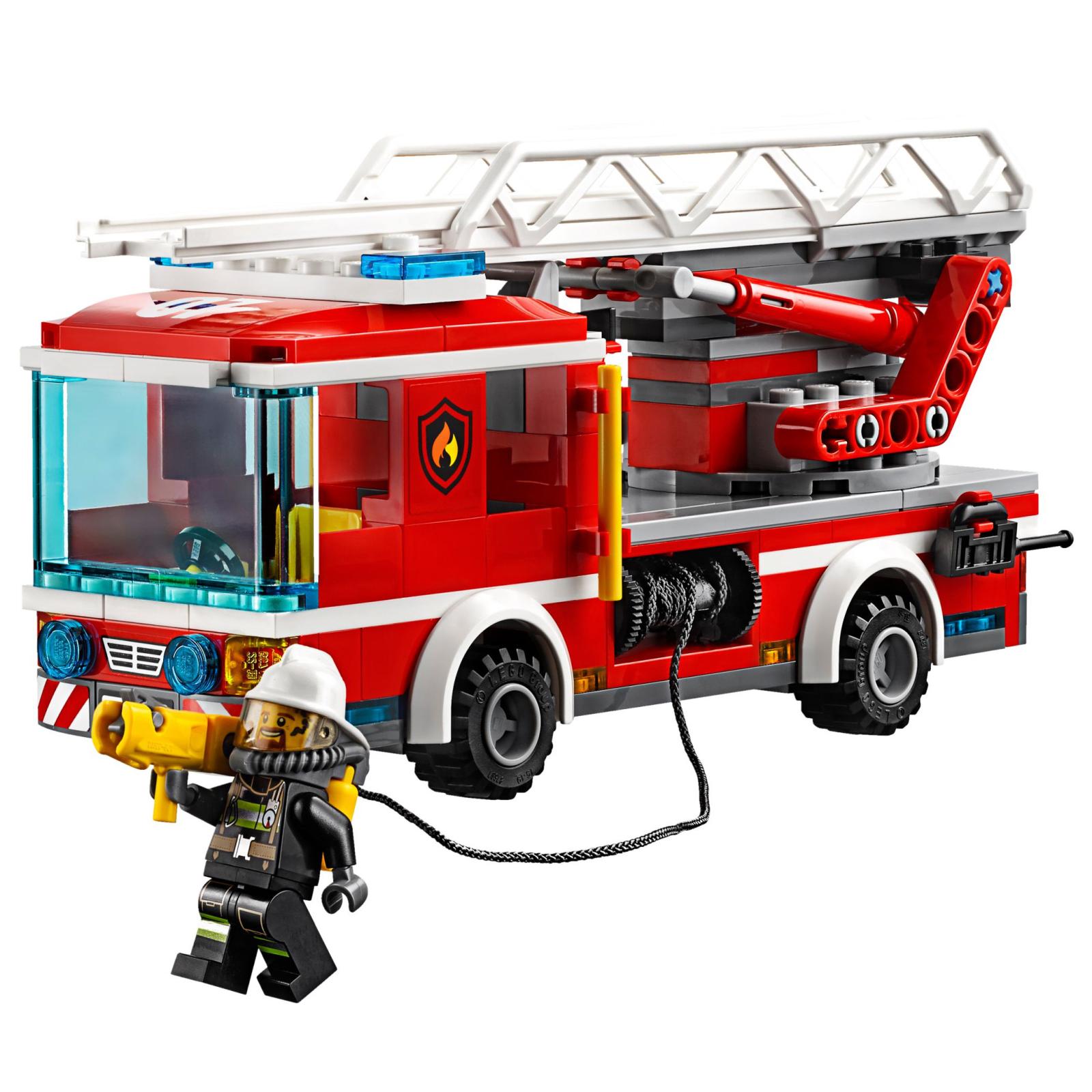 Конструктор LEGO City Fire Пожарный автомобиль с лестницей (60107) изображение 3