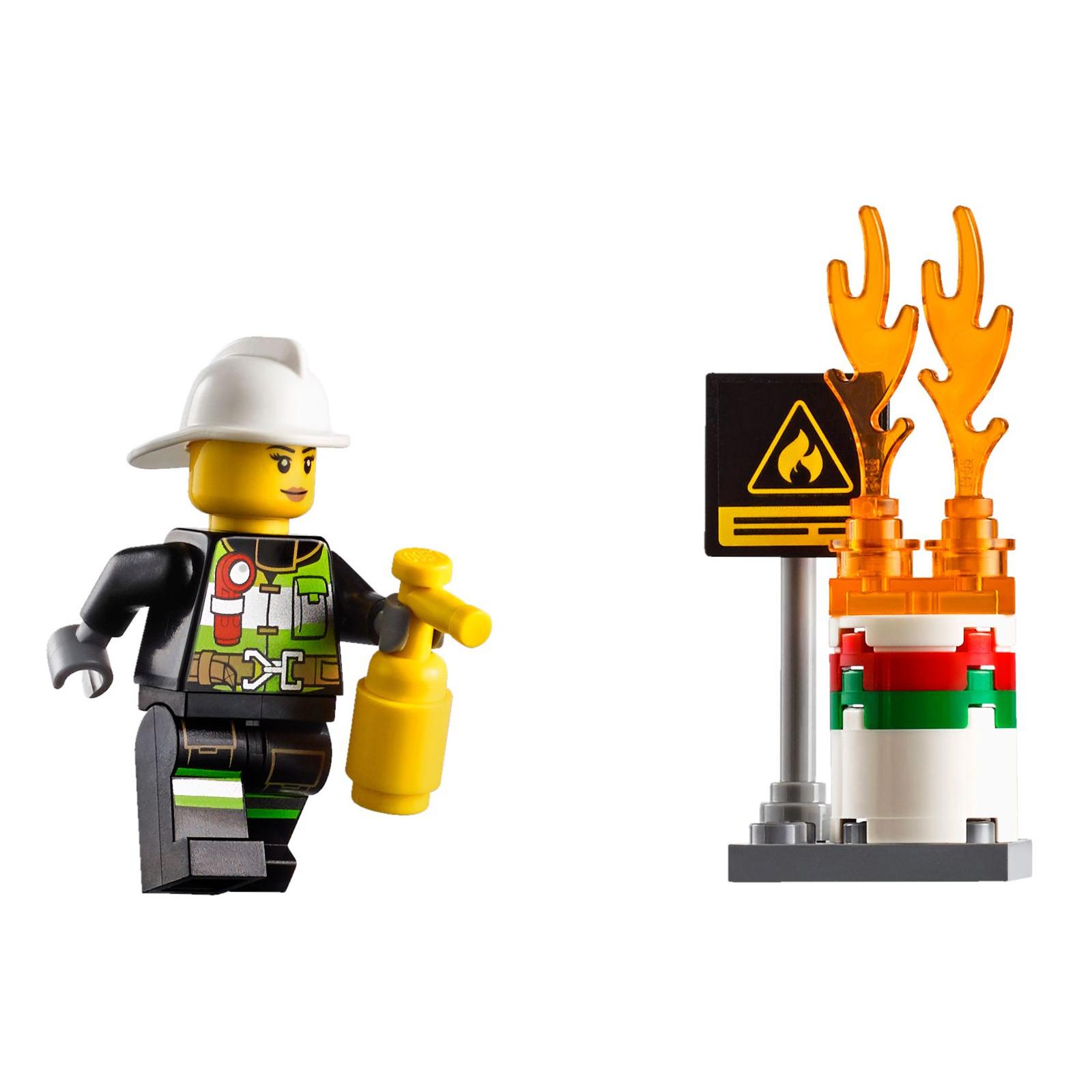 Конструктор LEGO City Fire Пожарный автомобиль с лестницей (60107) изображение 8