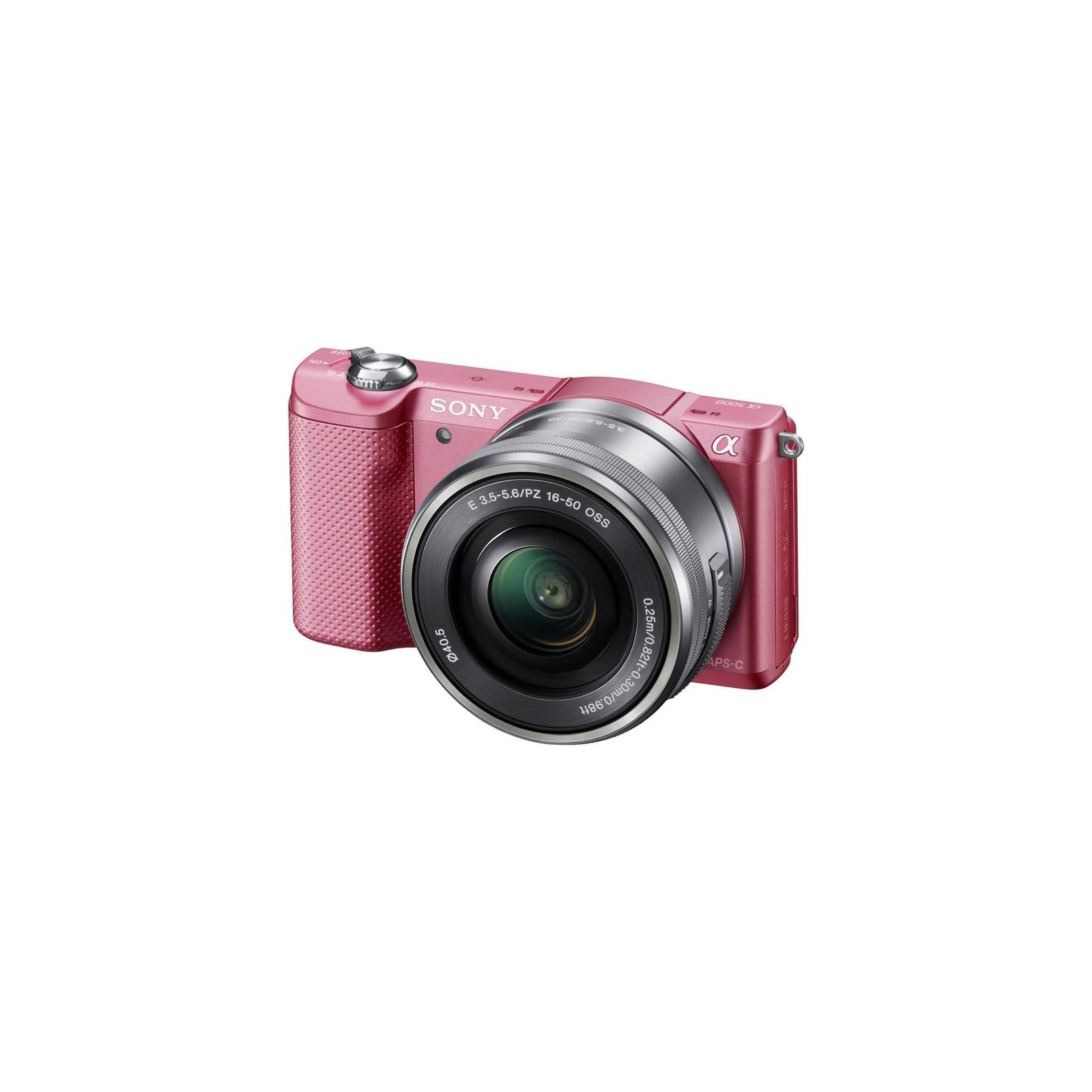 Цифровой фотоаппарат SONY Alpha 5000 kit 16-50 Pink (ILCE5000LP.CEC) изображение 2
