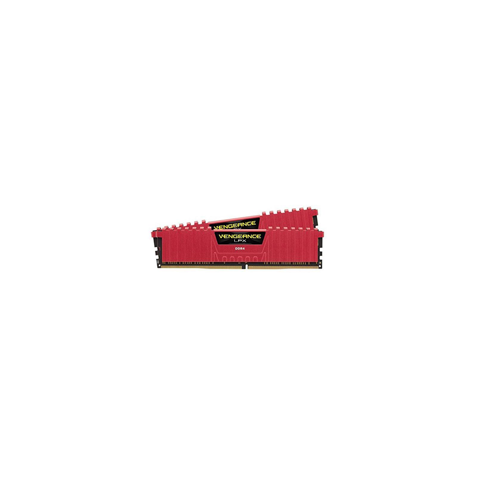 Модуль памяти для компьютера DDR4 16GB (2x8GB) 3000 MHz Vengeance LPX Red CORSAIR (CMK16GX4M2B3000C15R) изображение 2
