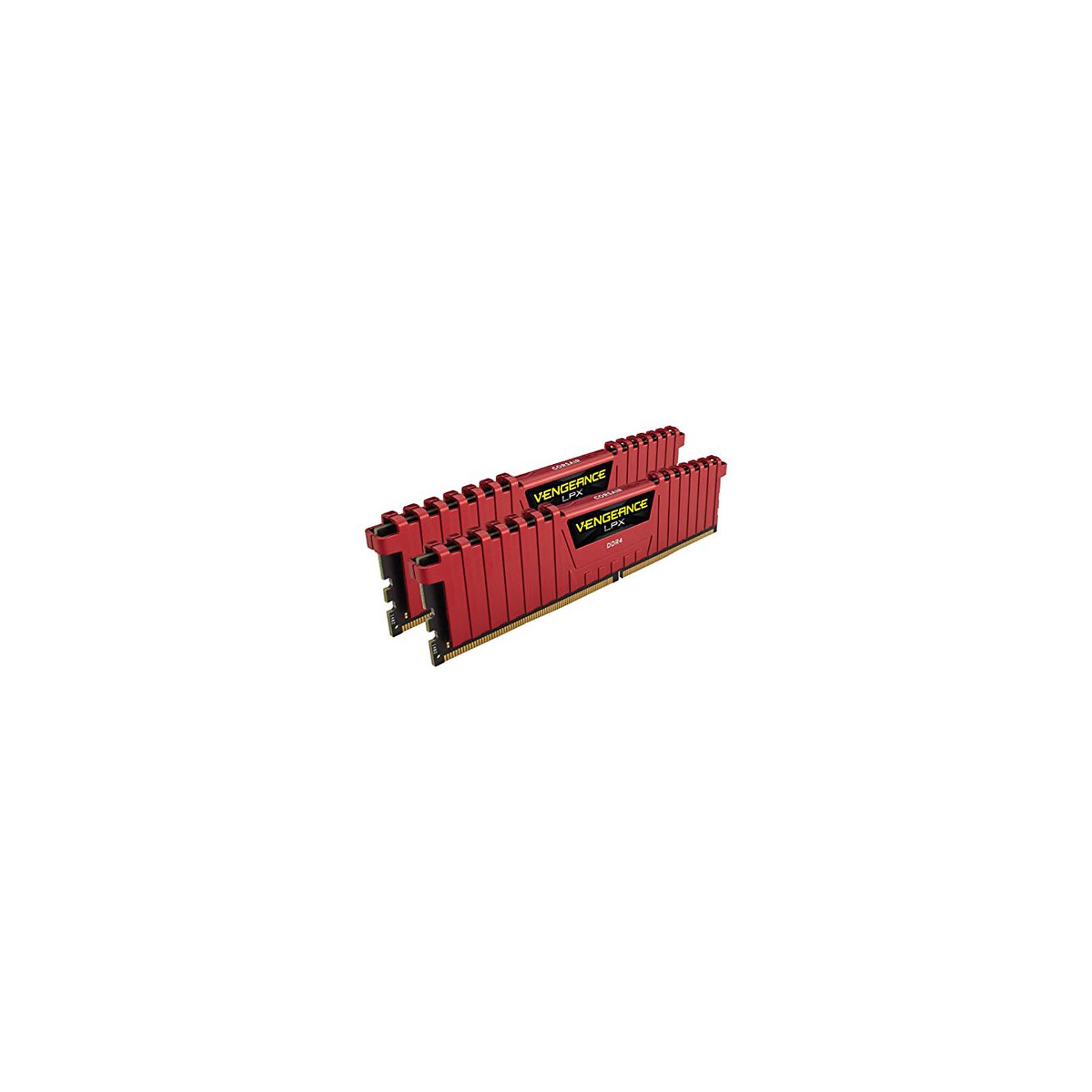 Модуль памяти для компьютера DDR4 16GB (2x8GB) 3000 MHz Vengeance LPX Red CORSAIR (CMK16GX4M2B3000C15R) изображение 3