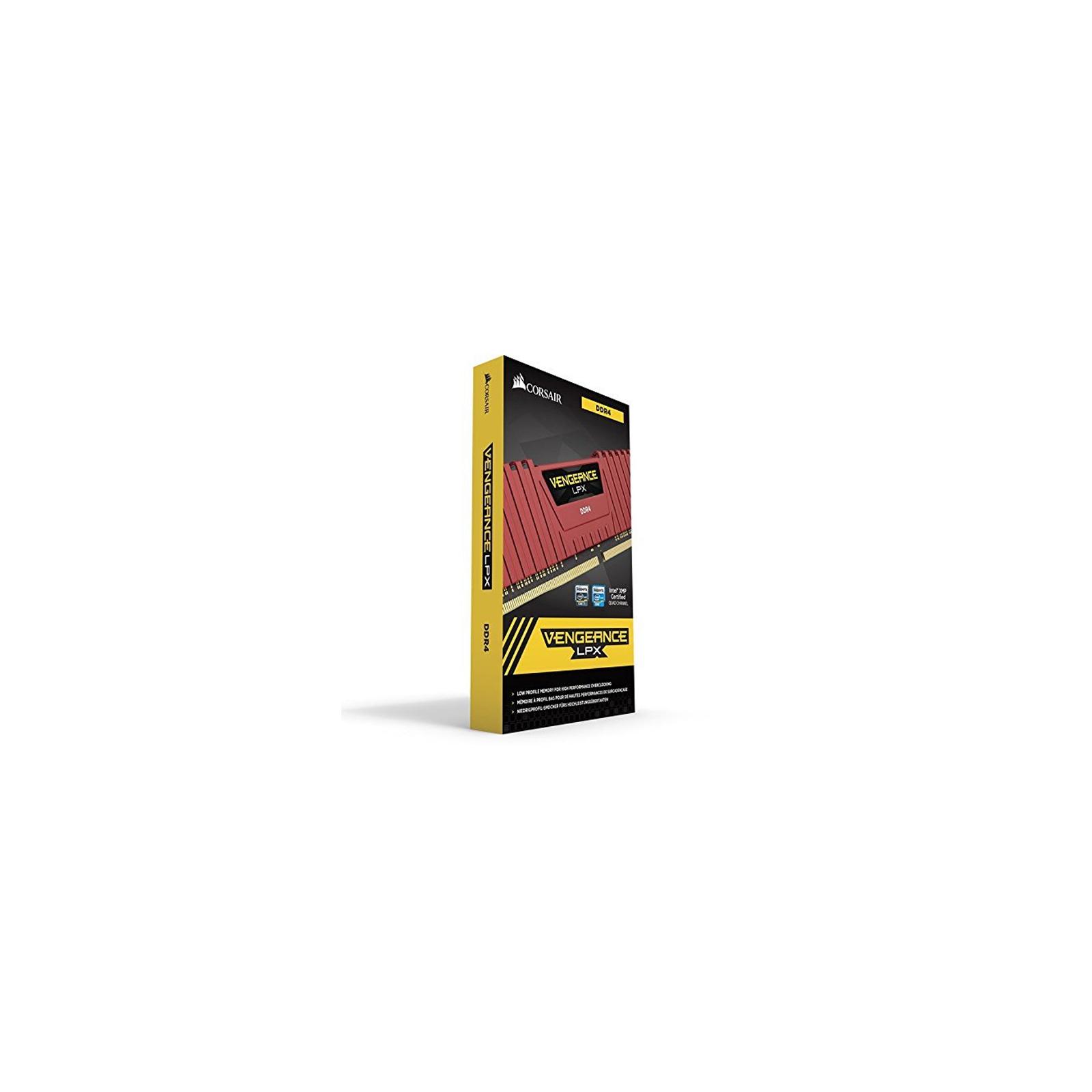 Модуль памяти для компьютера DDR4 16GB (2x8GB) 3000 MHz Vengeance LPX Red CORSAIR (CMK16GX4M2B3000C15R) изображение 4