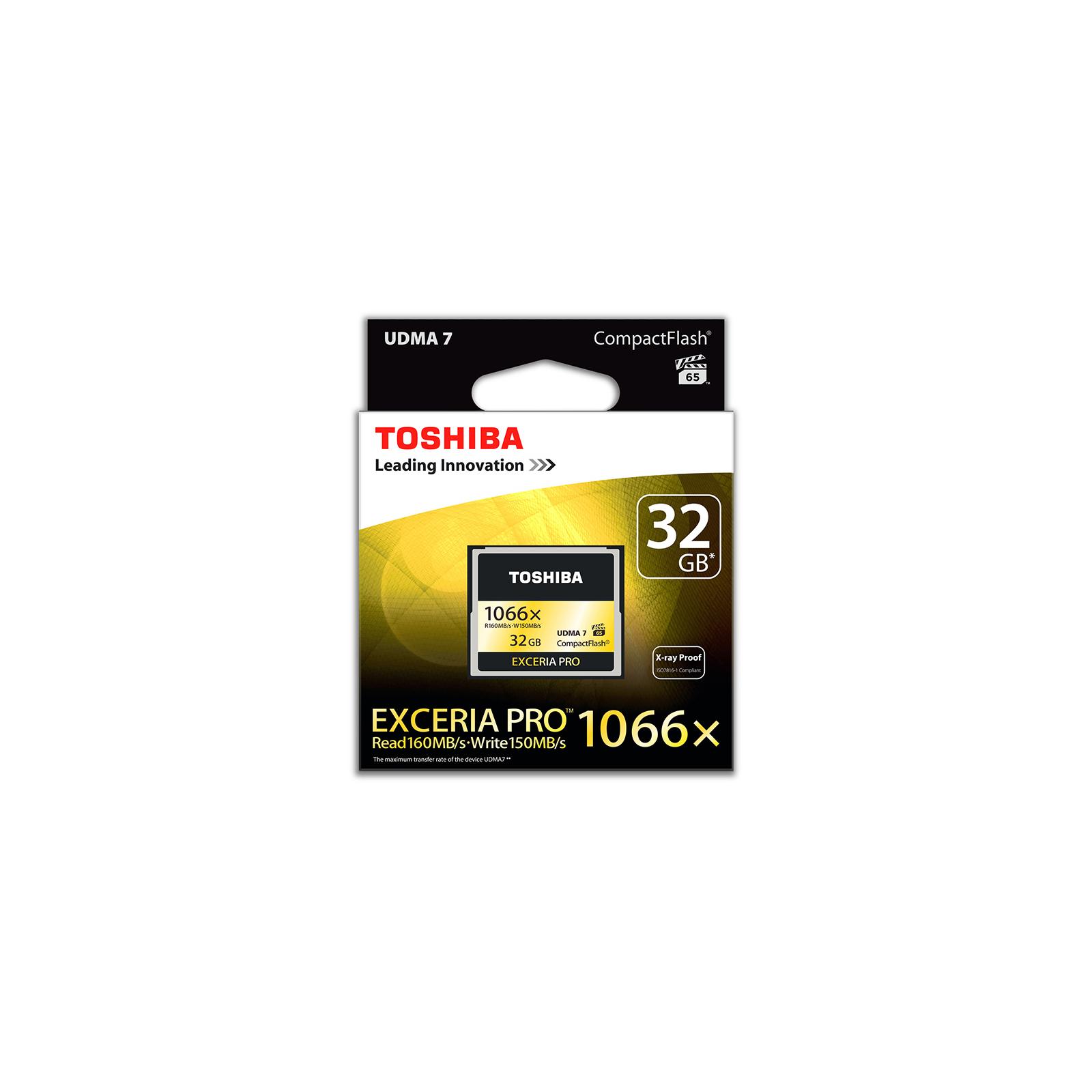 Карта памяти TOSHIBA 32GB Compact Flash 1000X (CF-032GSG(BL8) изображение 2