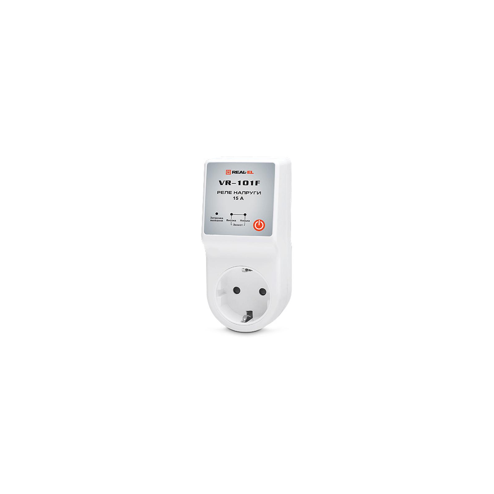 Реле напряжения REAL-EL VR-101F, white (EL122300009)