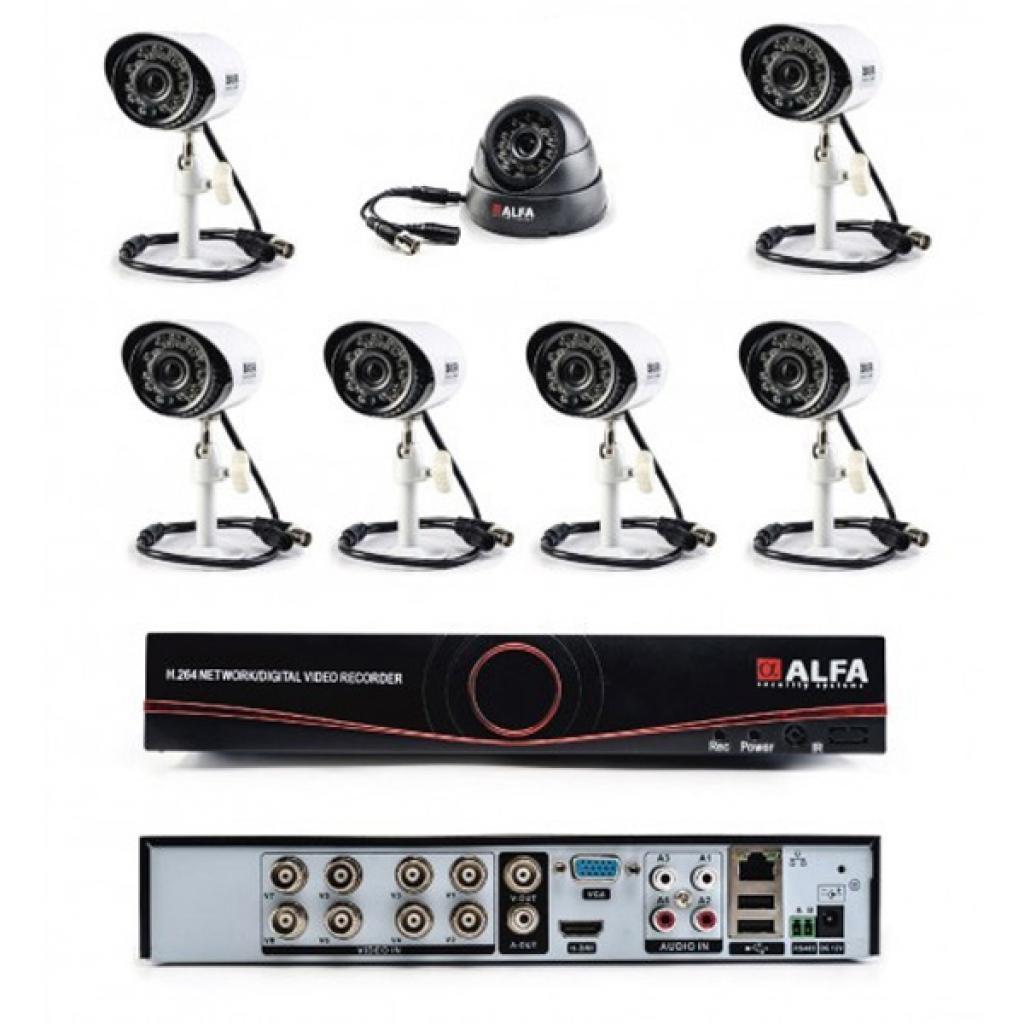 Комплект видеонаблюдения ALFA Mix 6х1