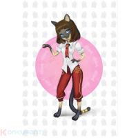 """3D-открытка с дополненной реальностью Fibrum AR card """"Кошка Миа"""" (J3DCARKM)"""