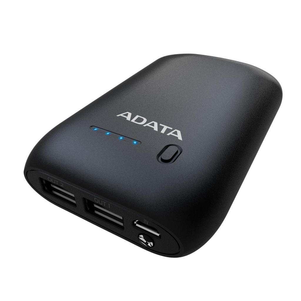 Батарея универсальная ADATA P10050 10050mAh Black (AP10050-DUSB-5V-CBK) изображение 5