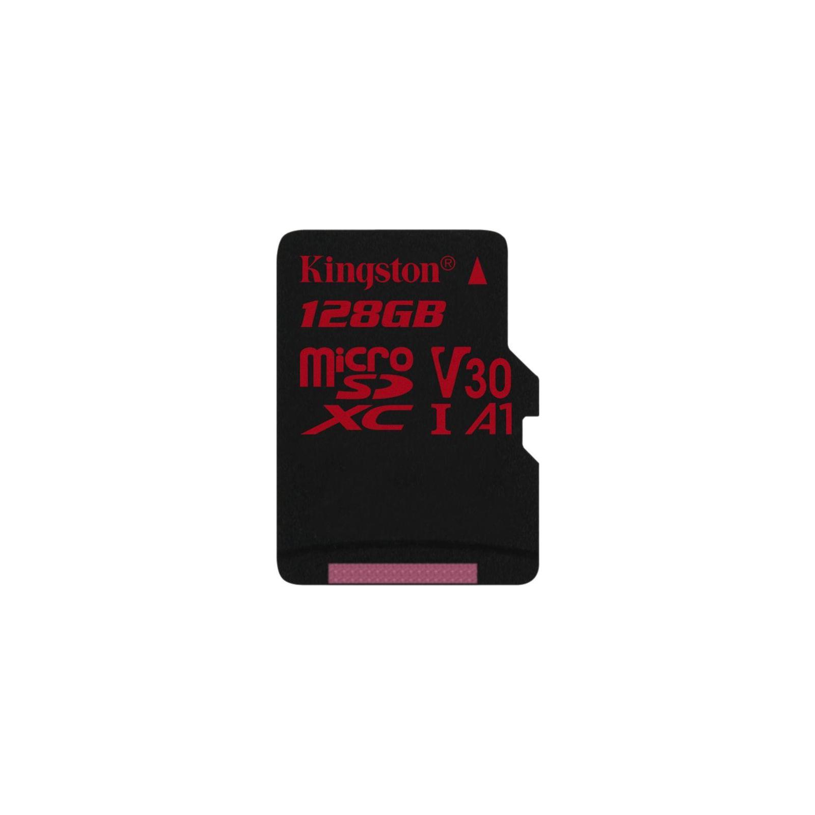 Карта памяти Kingston 128GB microSDXC class 10 UHS-I U3 (SDCR/128GBSP)