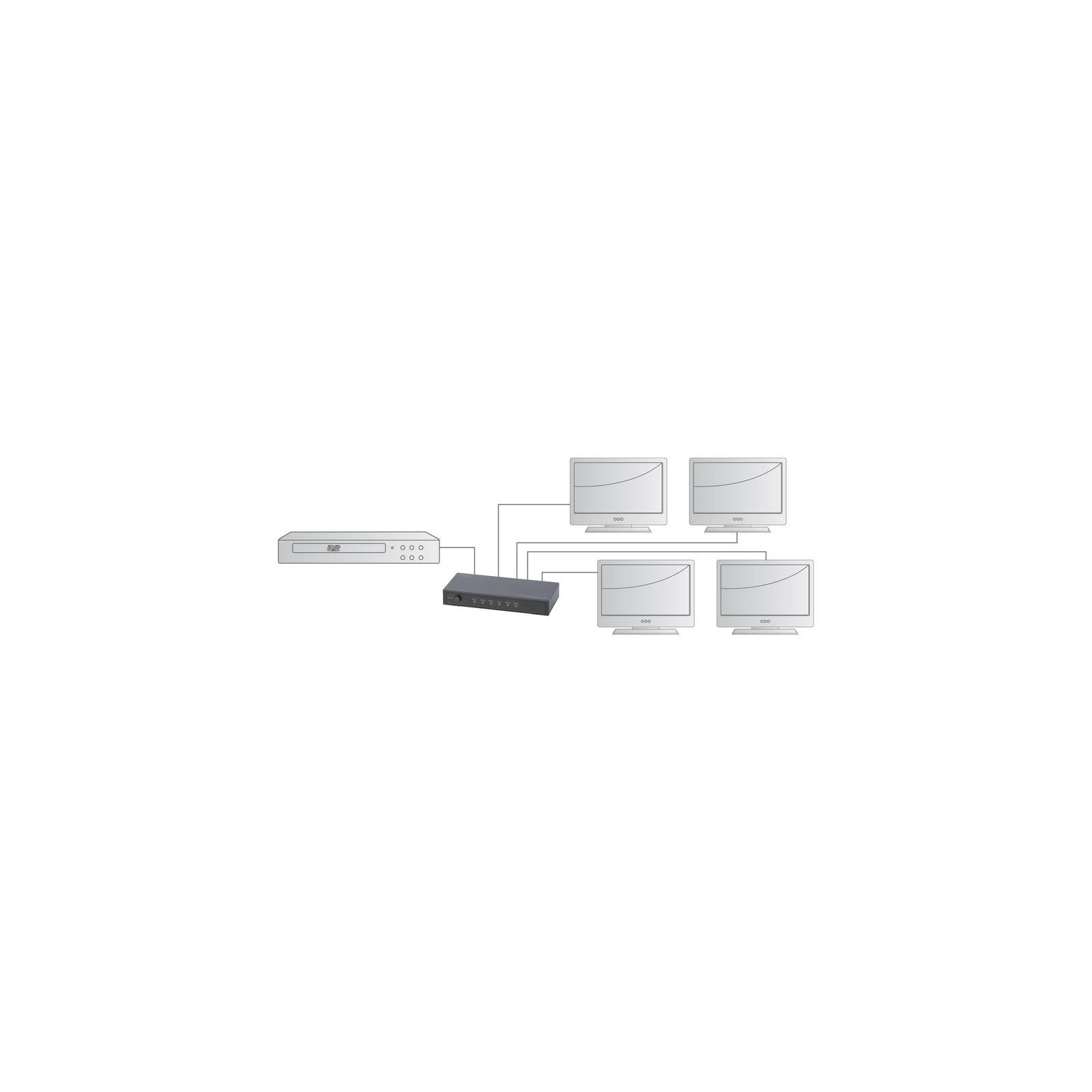 Сплиттер DIGITUS HDMI (INx1 - OUTx4), 4K, black (DS-47304) изображение 4