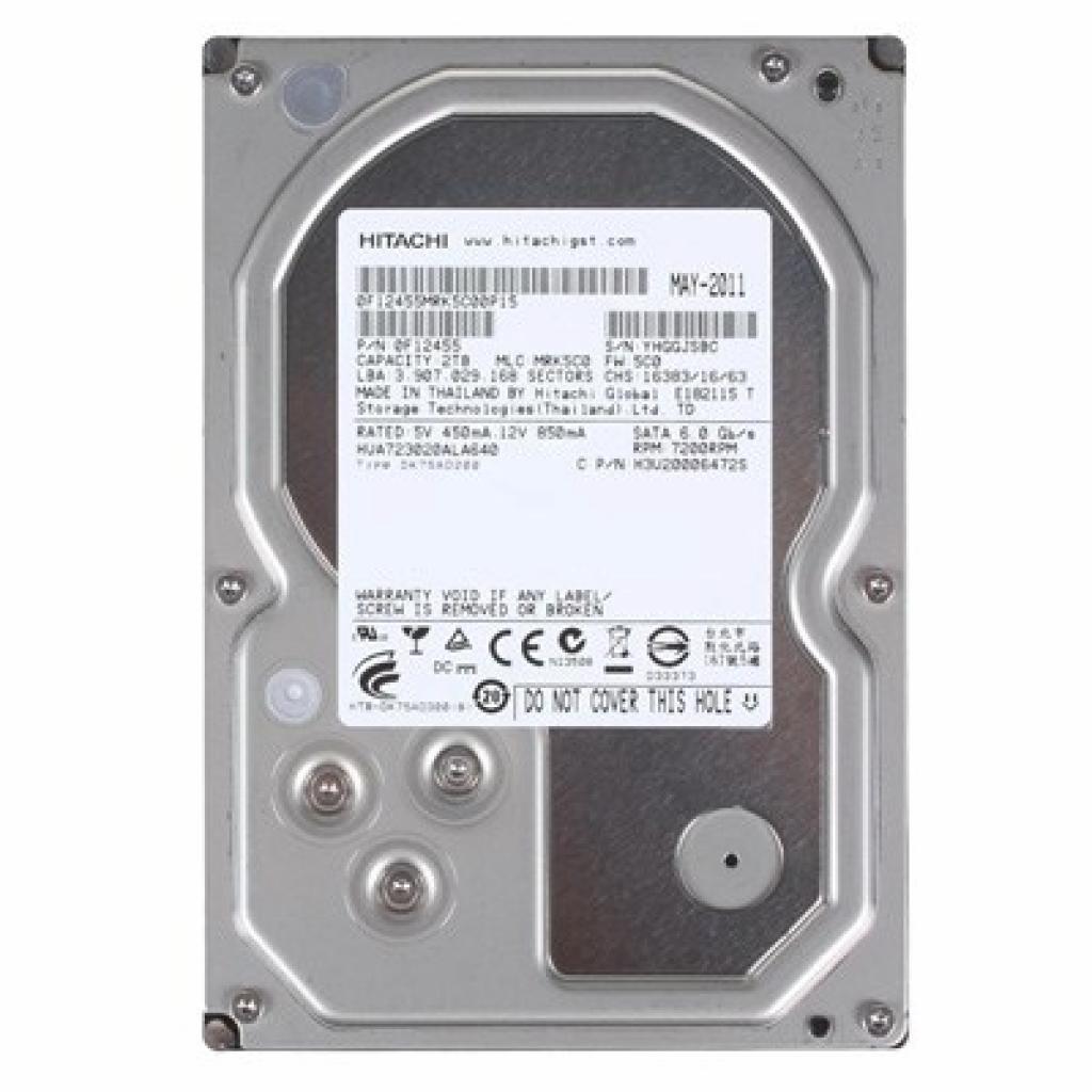 """Жесткий диск 3.5"""" 2TB Hitachi HGST (0F12455 / HUA723020ALA640)"""