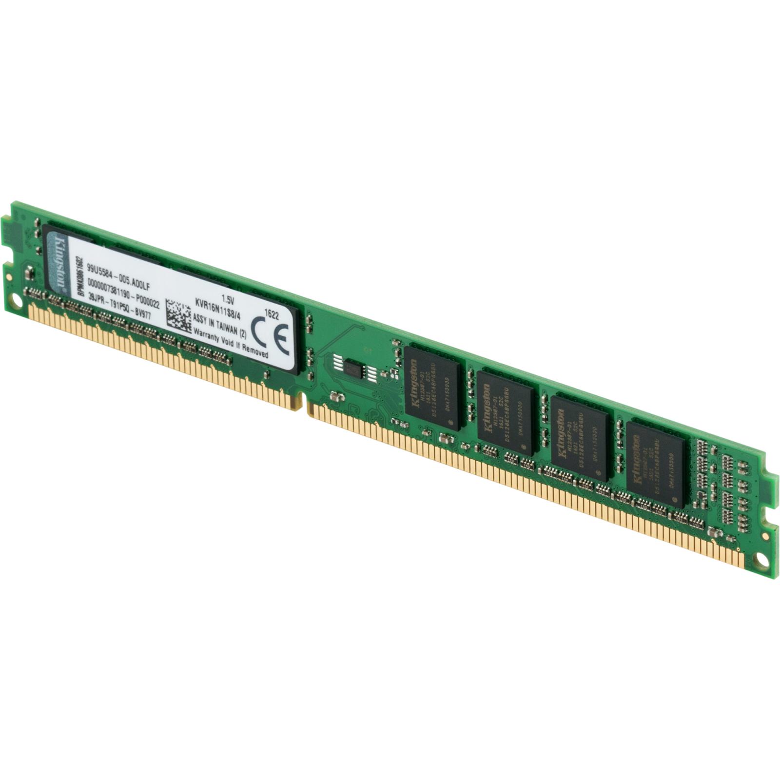 Модуль памяти для компьютера DDR3 4GB 1600 MHz Kingston (KVR16N11S8/4) изображение 3