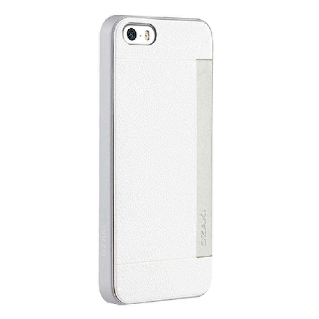 Чехол для моб. телефона OZAKI iPhone 5/5S O!coat 0.3+ Pocket ultra slim deluxe White (OC547WH) изображение 2