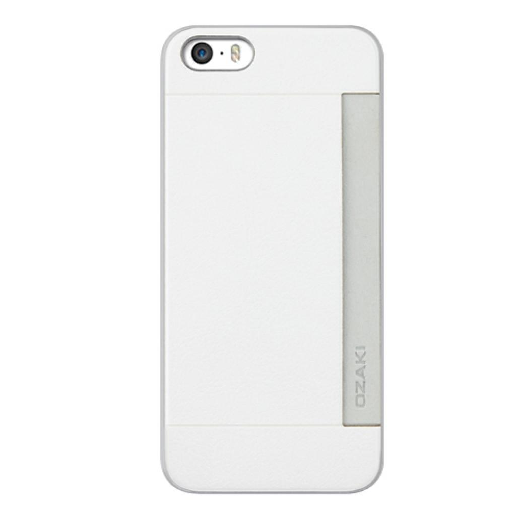 Чехол для моб. телефона OZAKI iPhone 5/5S O!coat 0.3+ Pocket ultra slim deluxe White (OC547WH)