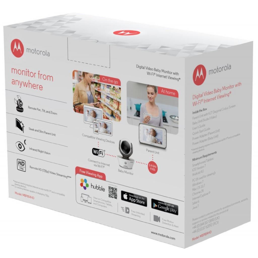 Видеоняня Motorola MBP854 Connect HD (Гр6272) изображение 6
