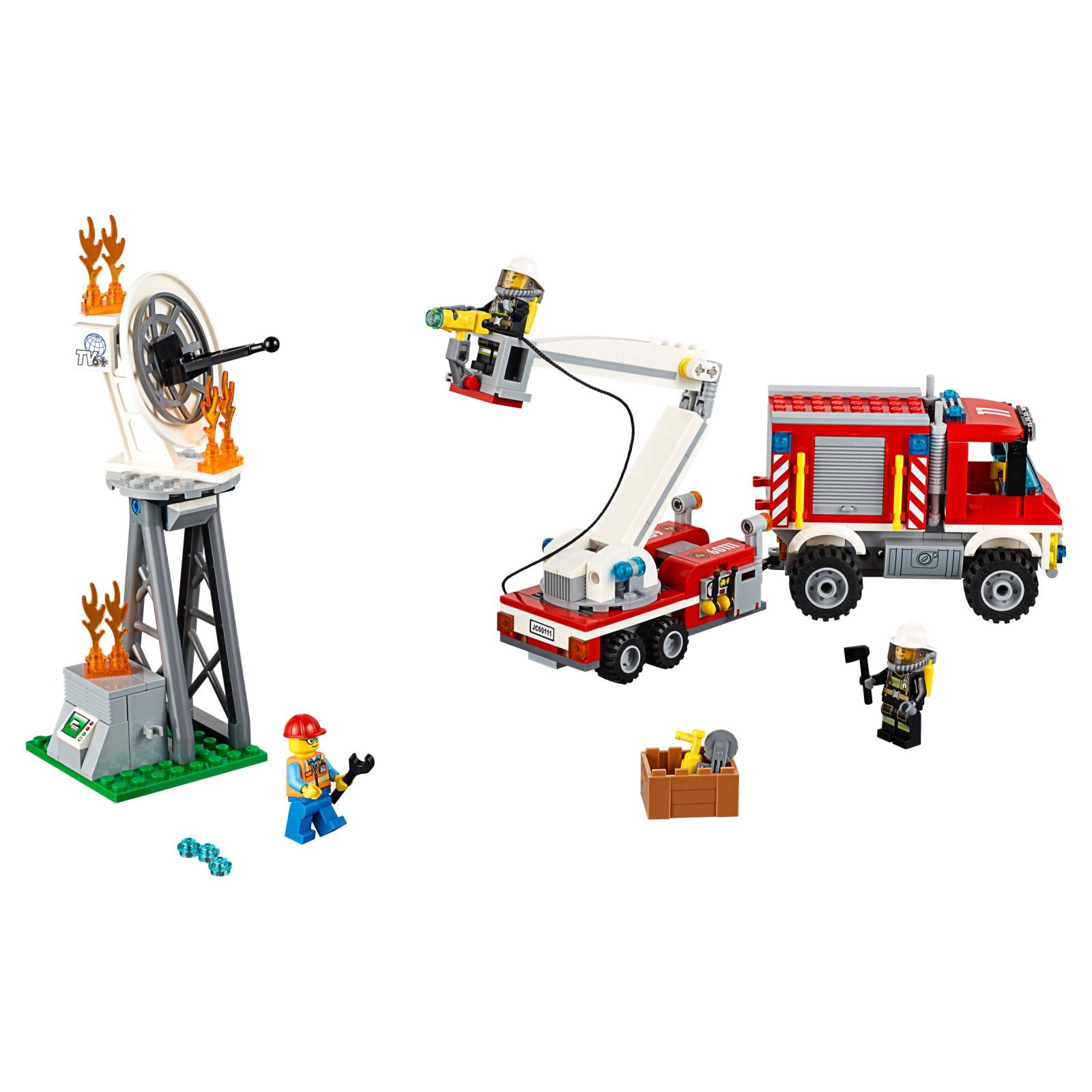 Конструктор LEGO City Fire Пожарный грузовик (60111) изображение 2