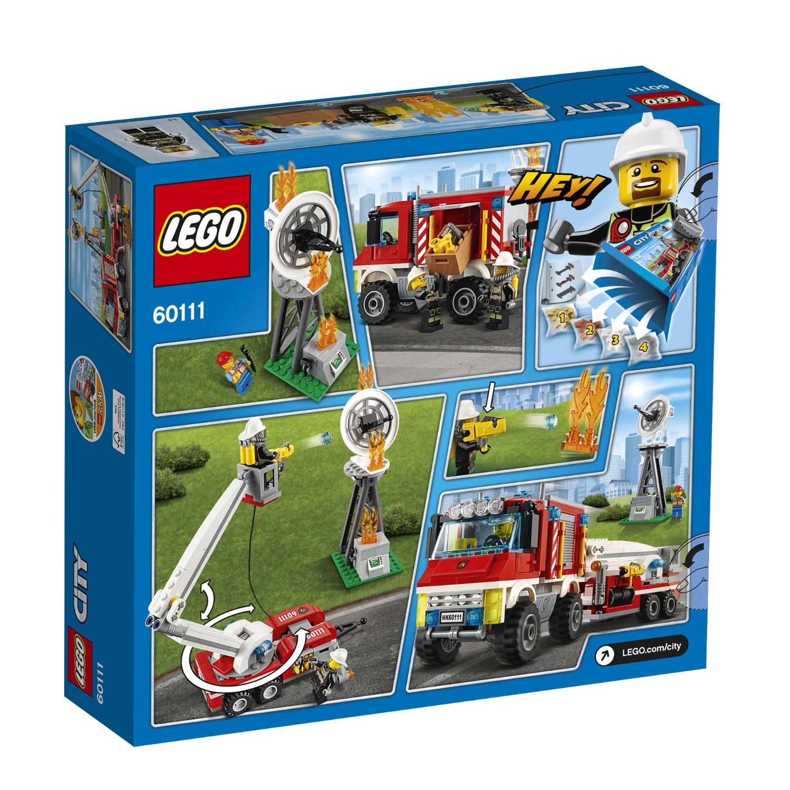 Конструктор LEGO City Fire Пожарный грузовик (60111) изображение 9