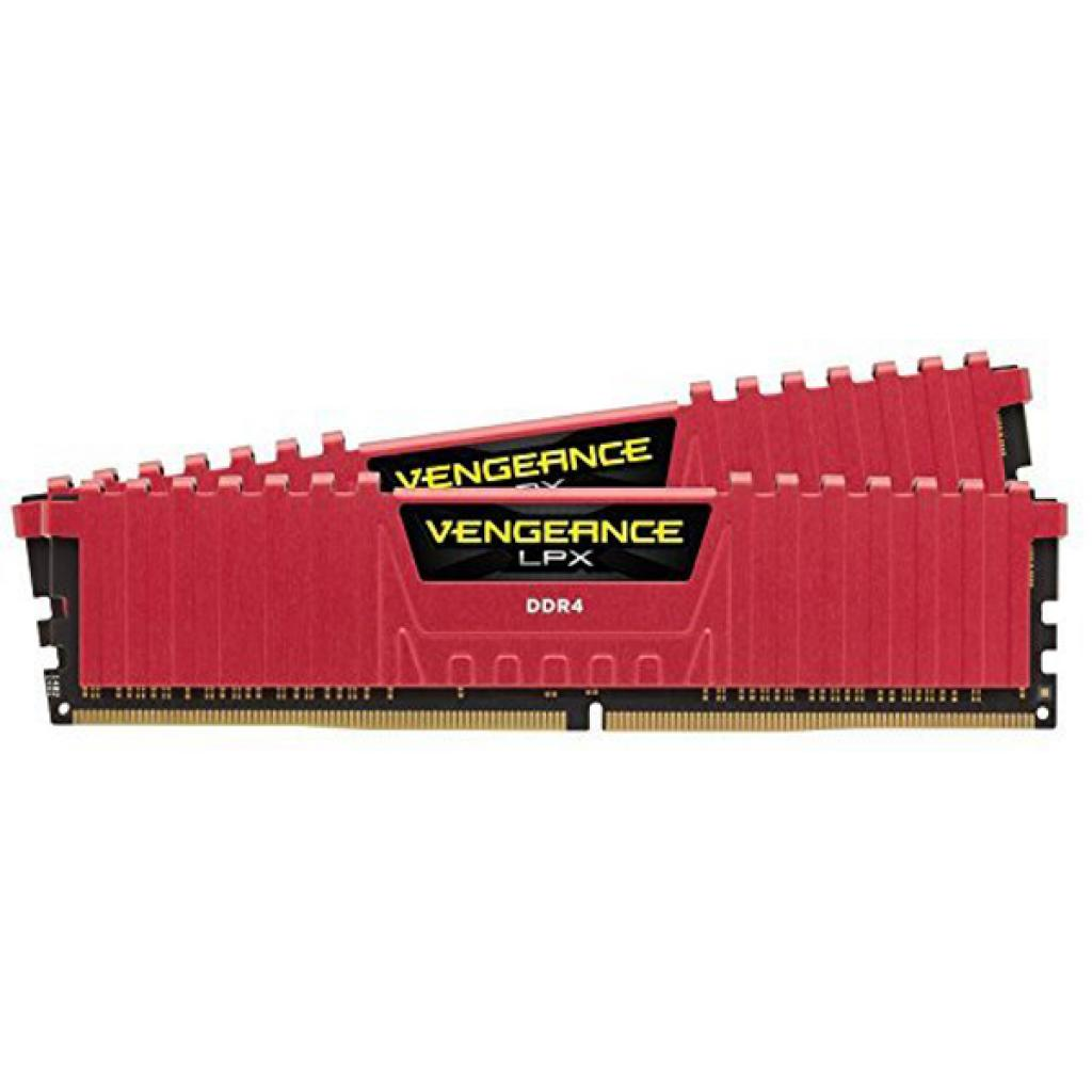 Модуль памяти для компьютера DDR4 16GB (2x8GB) 3200 MHz Vengeance LPX Red CORSAIR (CMK16GX4M2B3200C16R) изображение 2