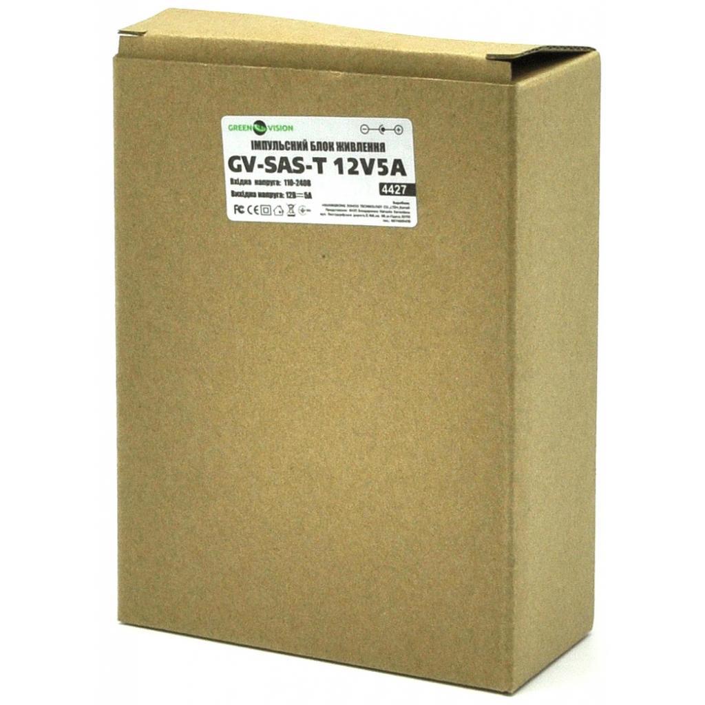 Блок питания GreenVision GV-SAS-T 12V5A (4427) изображение 5