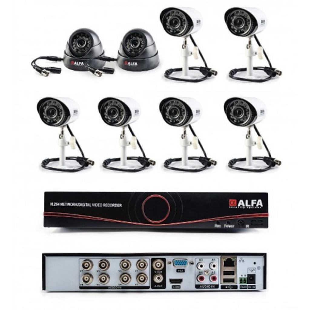 Комплект видеонаблюдения ALFA Mix 6х2