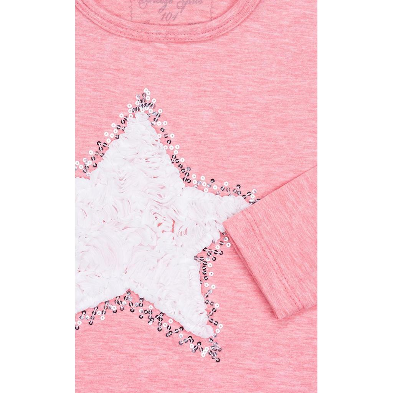 Кофта Breeze со звездой и оборкой (10536-110G-pink) изображение 6