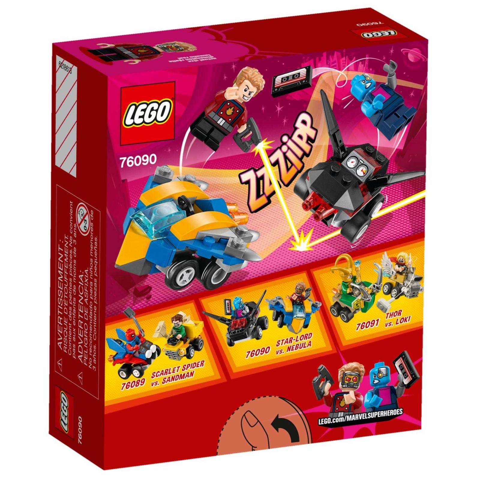 Конструктор LEGO Super Heroes Mighty Micros: Звездный лорд против Небулы (76090) изображение 9