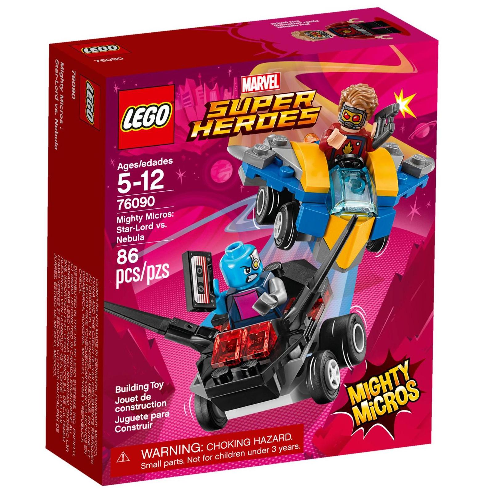 Конструктор LEGO Super Heroes Mighty Micros: Звездный лорд против Небулы (76090)