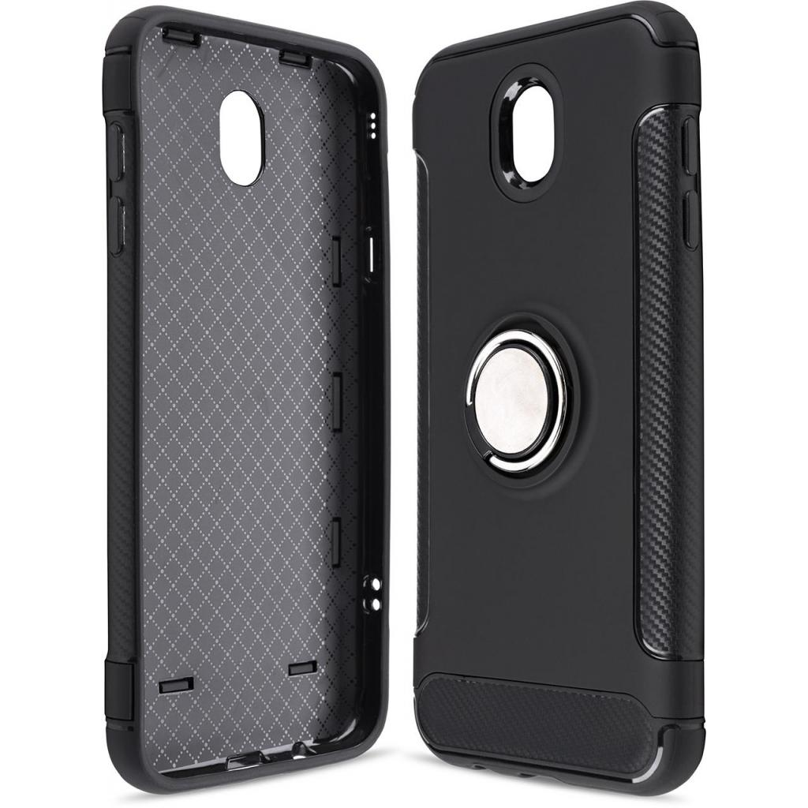 Чехол для моб. телефона Laudtec для Samsung J7 2017/J730 Ring stand (black) (LR-J730-BC)