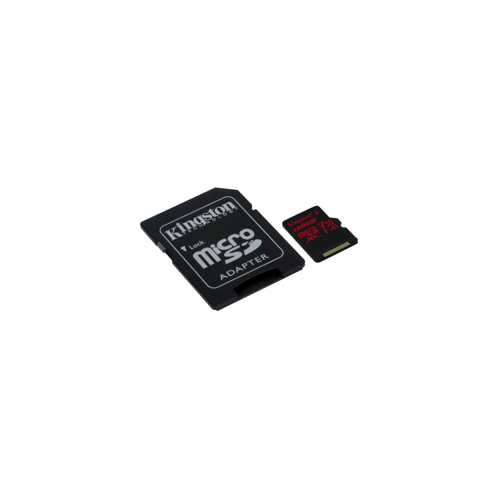 Карта памяти Kingston 128GB microSDXC class 10 UHS-I U3 (SDCR/128GB) изображение 2
