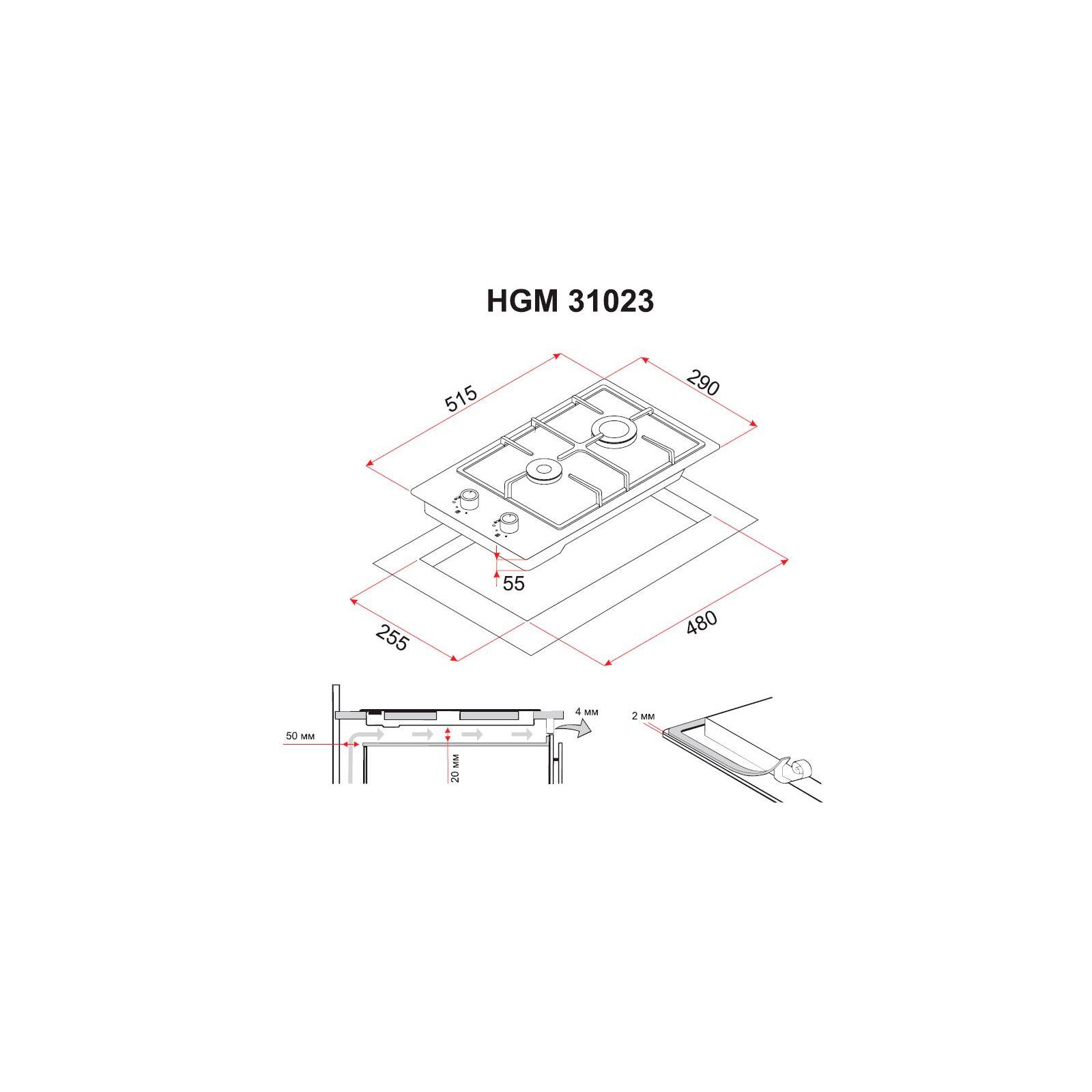 Варочная поверхность PERFELLI HGM 31023 WH изображение 6