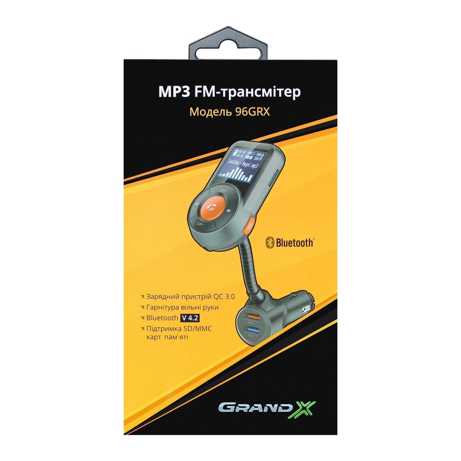 Автомобильный MP3-FM модулятор Grand-X 96GRX изображение 7