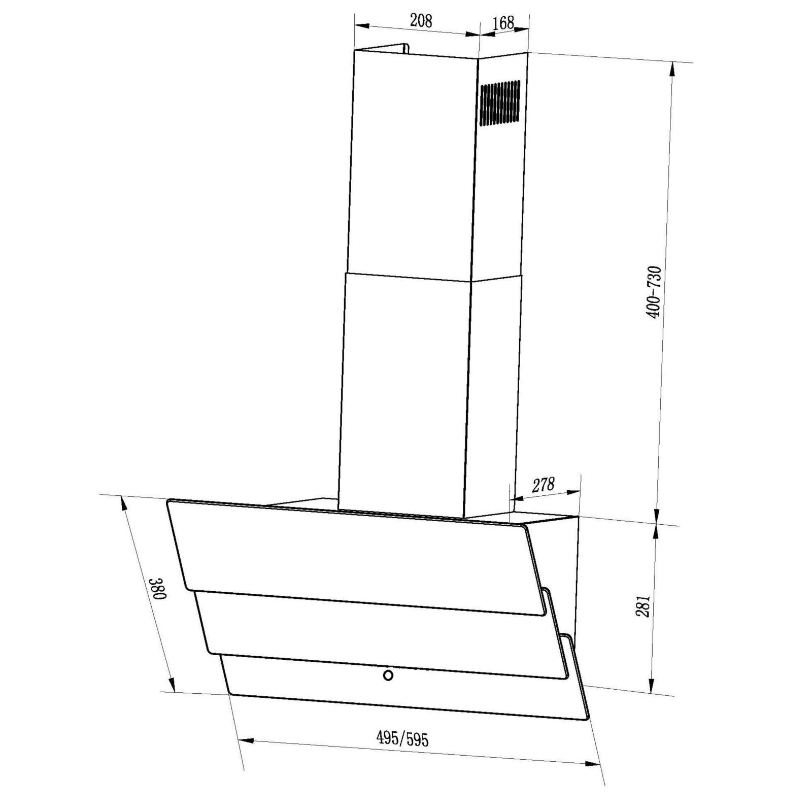 Вытяжка кухонная INTERLINE AIR BL A/60/GL/T изображение 2