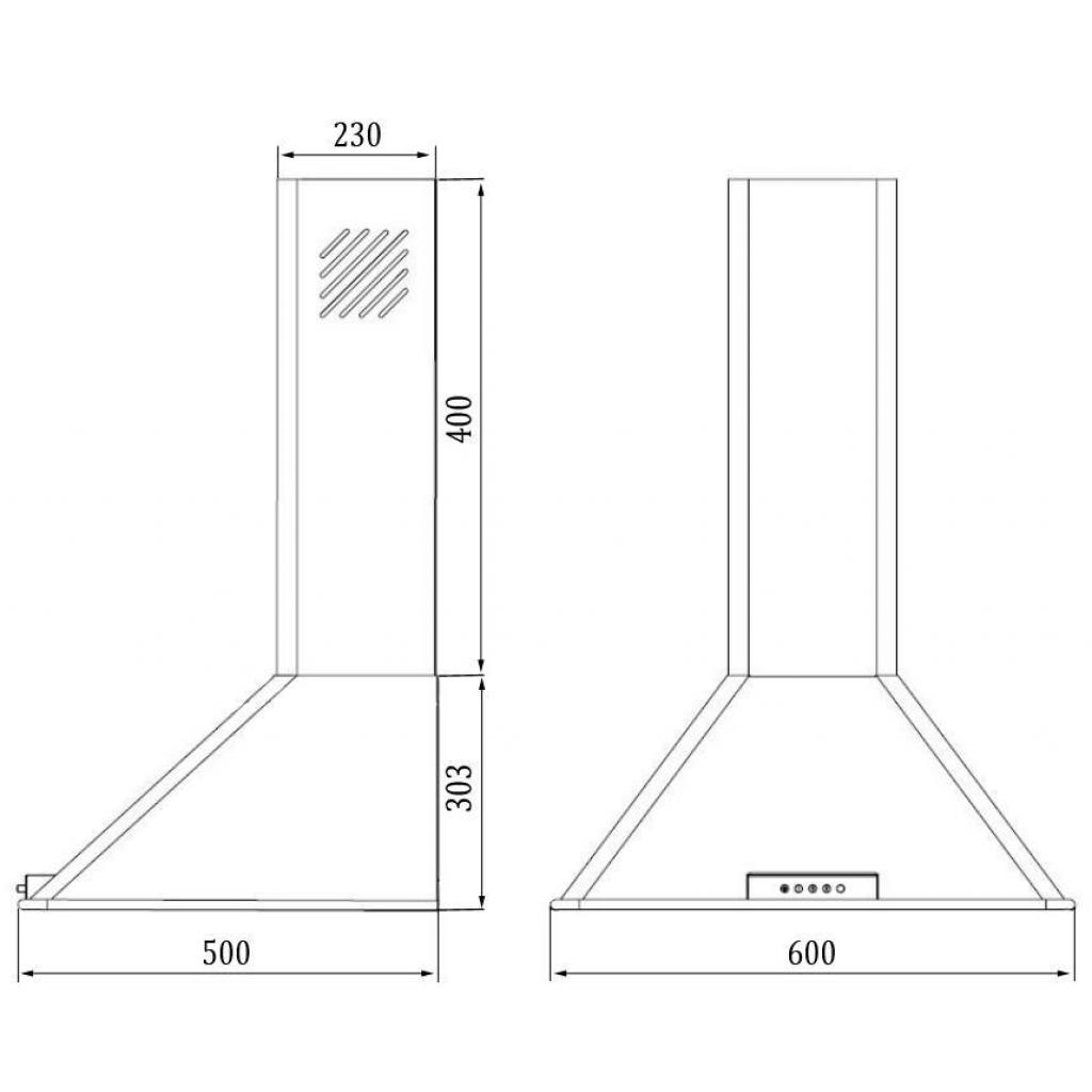 Вытяжка кухонная GUNTER&HAUER INARA 60 изображение 2