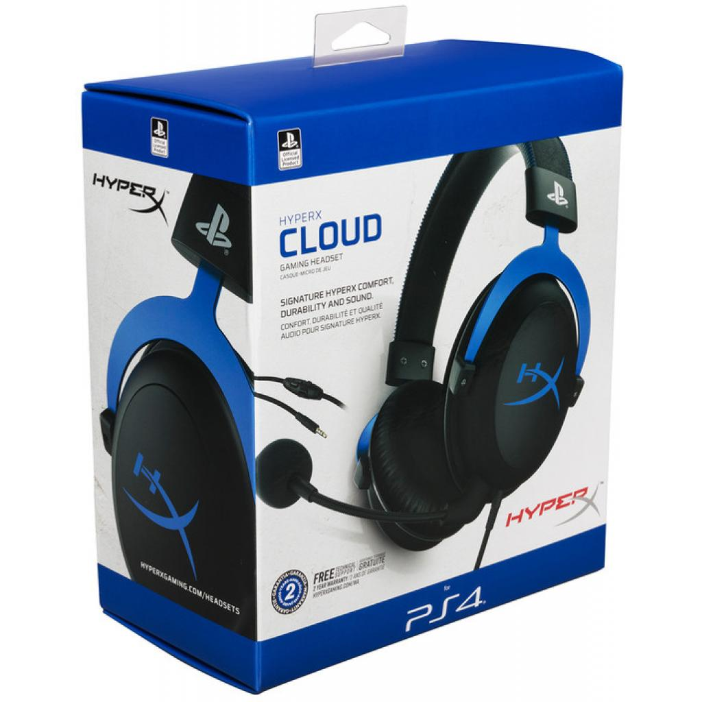 Навушники HyperX Cloud for PS4 Black/Blue (HX-HSCLS-BL/EM) зображення 5