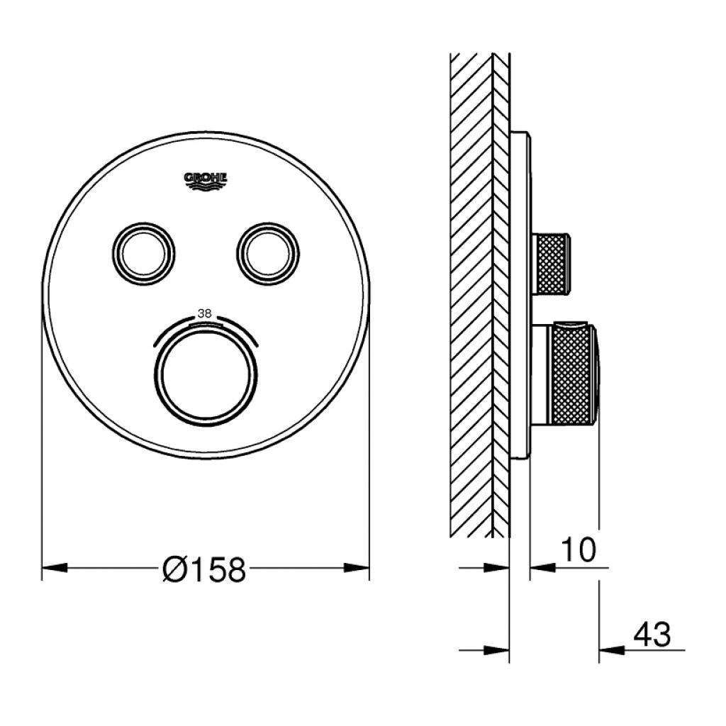 Термостатический смеситель Grohe GRT SmartControl (29119000) изображение 4