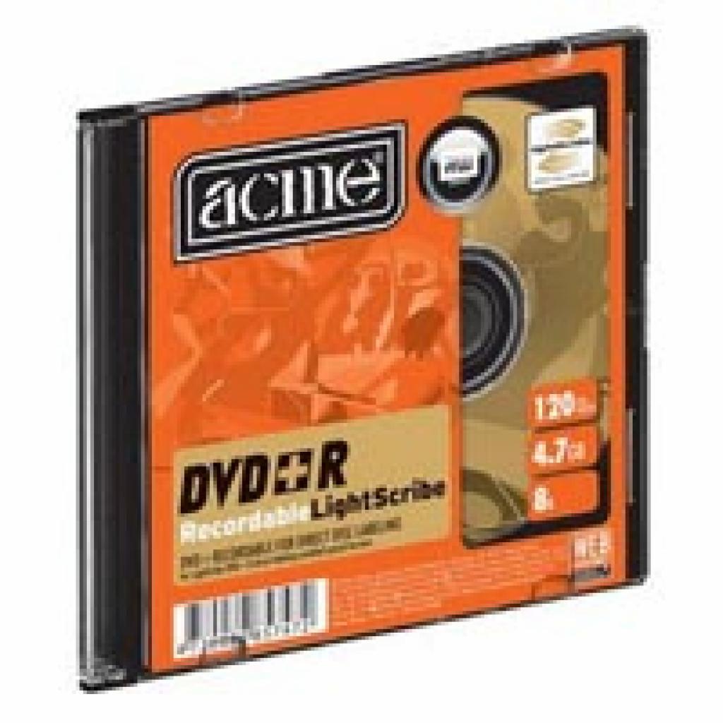 Диск DVD ACME 4.7Gb 8x Slim Case LightScribe 1шт (4770070857472)