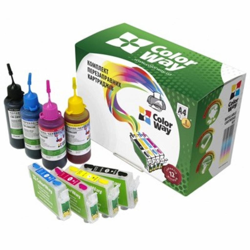 Комплект перезаправляемых картриджей ColorWay Epson XP33/103/203/207/303/306/406 (XP103RC-4.1)
