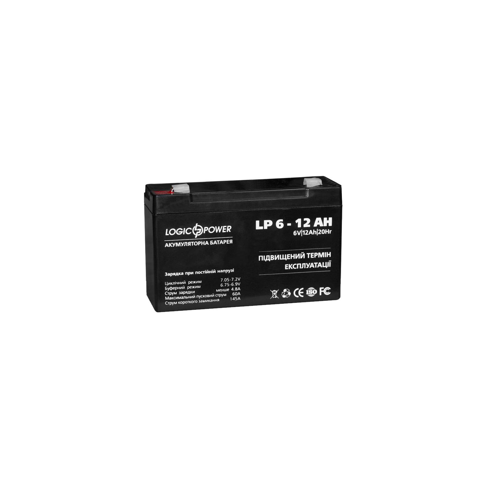 Батарея к ИБП LogicPower 6В 12 Ач (2572) изображение 2