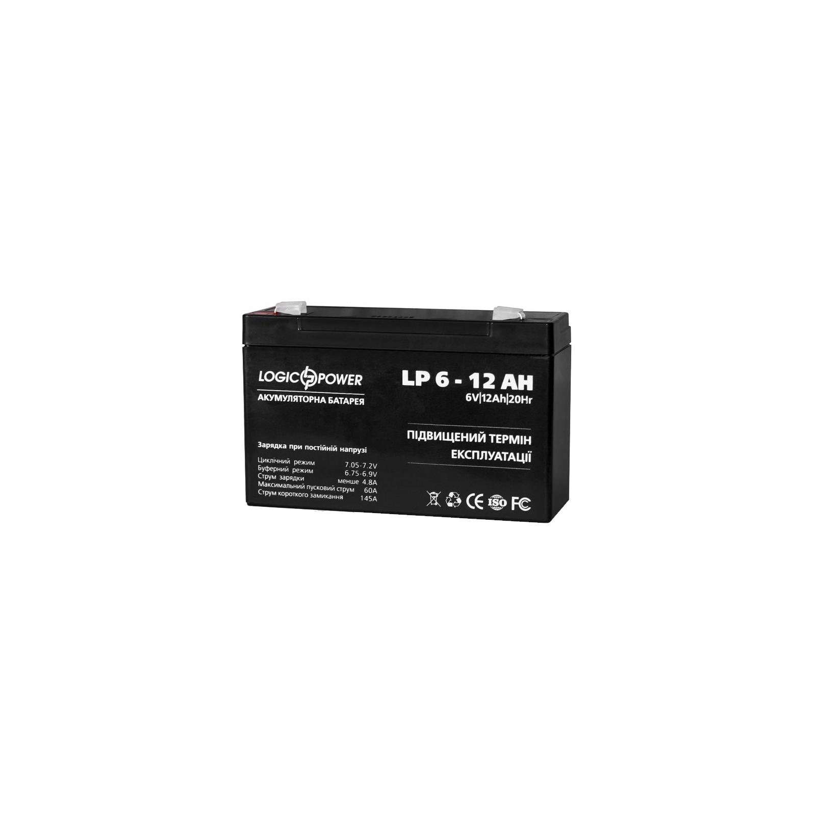 Батарея к ИБП LogicPower 6В 12 Ач (2572) изображение 3