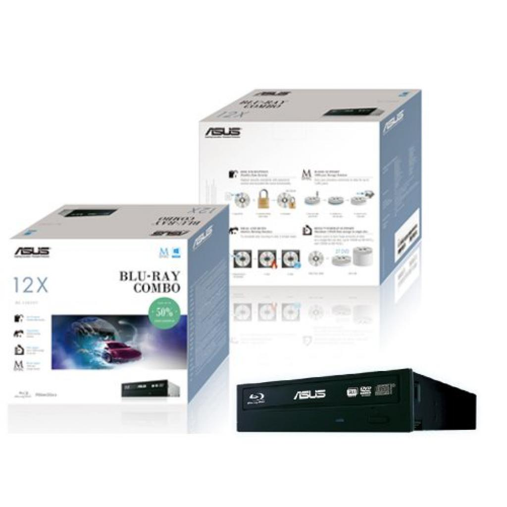 Оптический привод Blu-Ray/HD-DVD ASUS BC-12D2HT Black Bulk изображение 2
