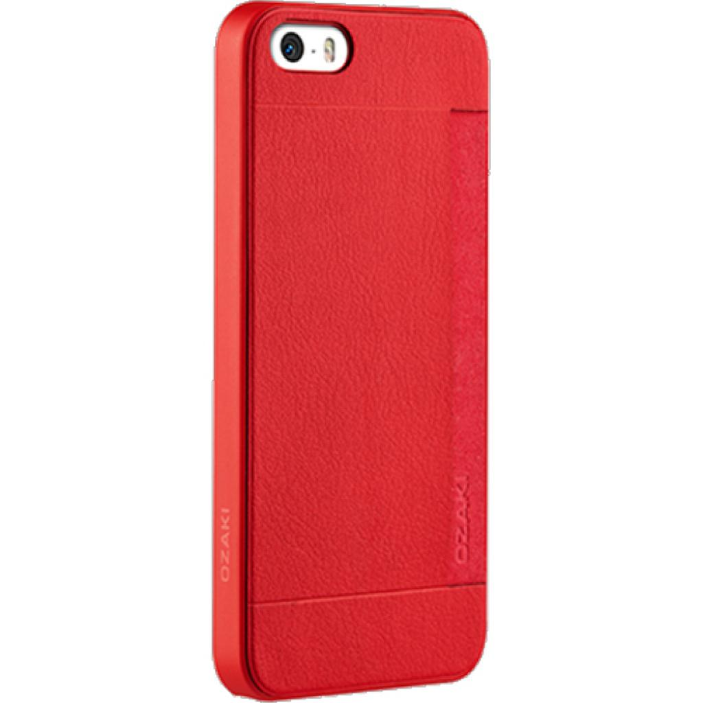 Чехол для моб. телефона OZAKI iPhone 5/5S O!coat 0.3+ Pocket ultra slim deluxe Red (OC547RD) изображение 1