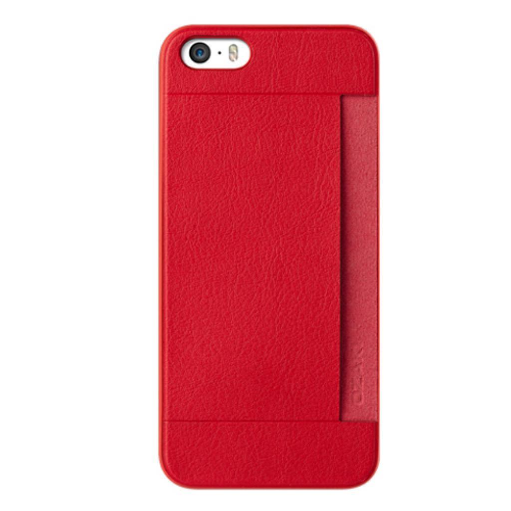 Чехол для моб. телефона OZAKI iPhone 5/5S O!coat 0.3+ Pocket ultra slim deluxe Red (OC547RD)