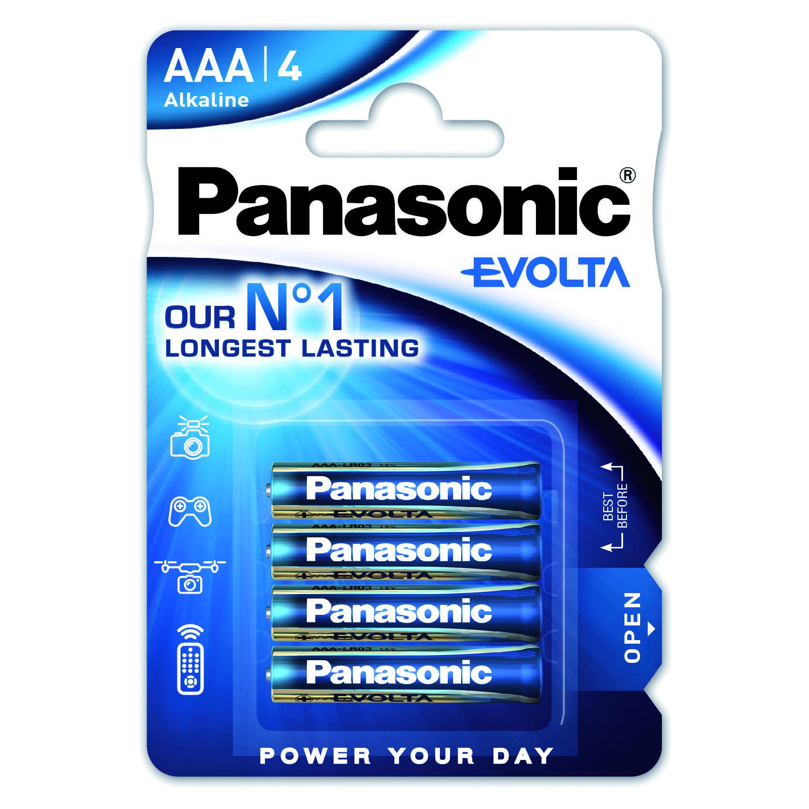 Батарейка PANASONIC LR03 PANASONIC Evolta * 4 (LR03EGE/4BP)