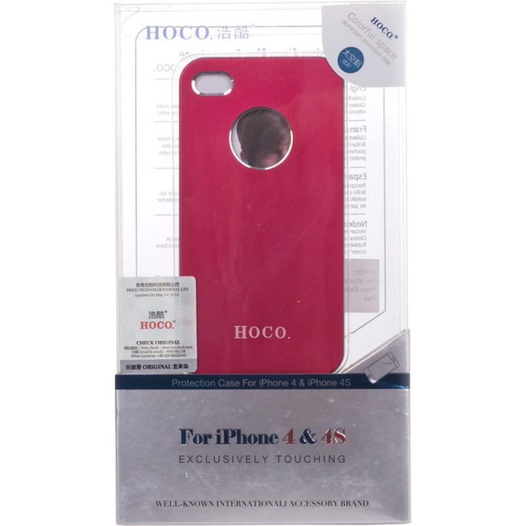 Чехол для моб. телефона HOCO для iPhone 4/4S /Metal Back (HI-P001 Red)
