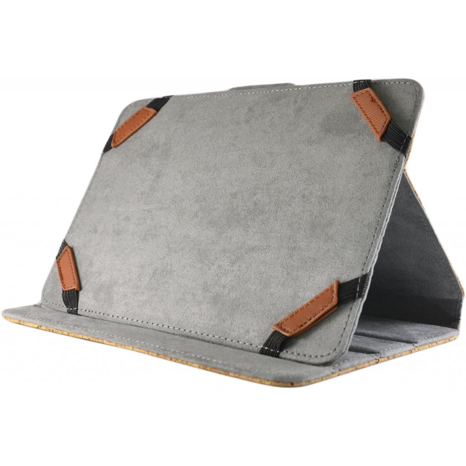"""Чехол для планшета Pro-case Чохол планшету унiверсальний Pro-case Cork case 7-8"""" beige (UNS-045) изображение 4"""