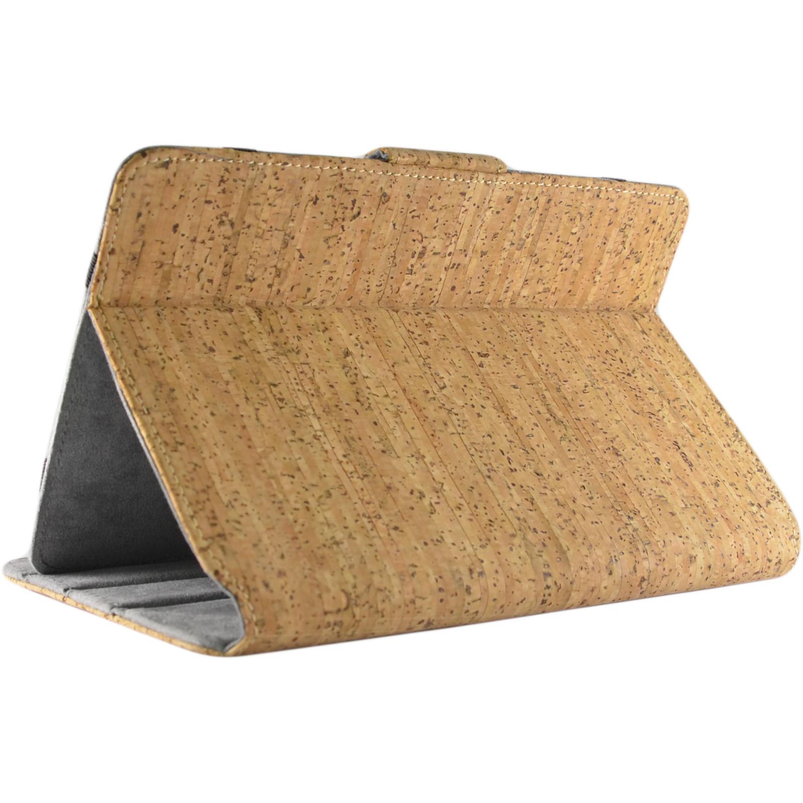 """Чехол для планшета Pro-case Чохол планшету унiверсальний Pro-case Cork case 7-8"""" beige (UNS-045) изображение 5"""
