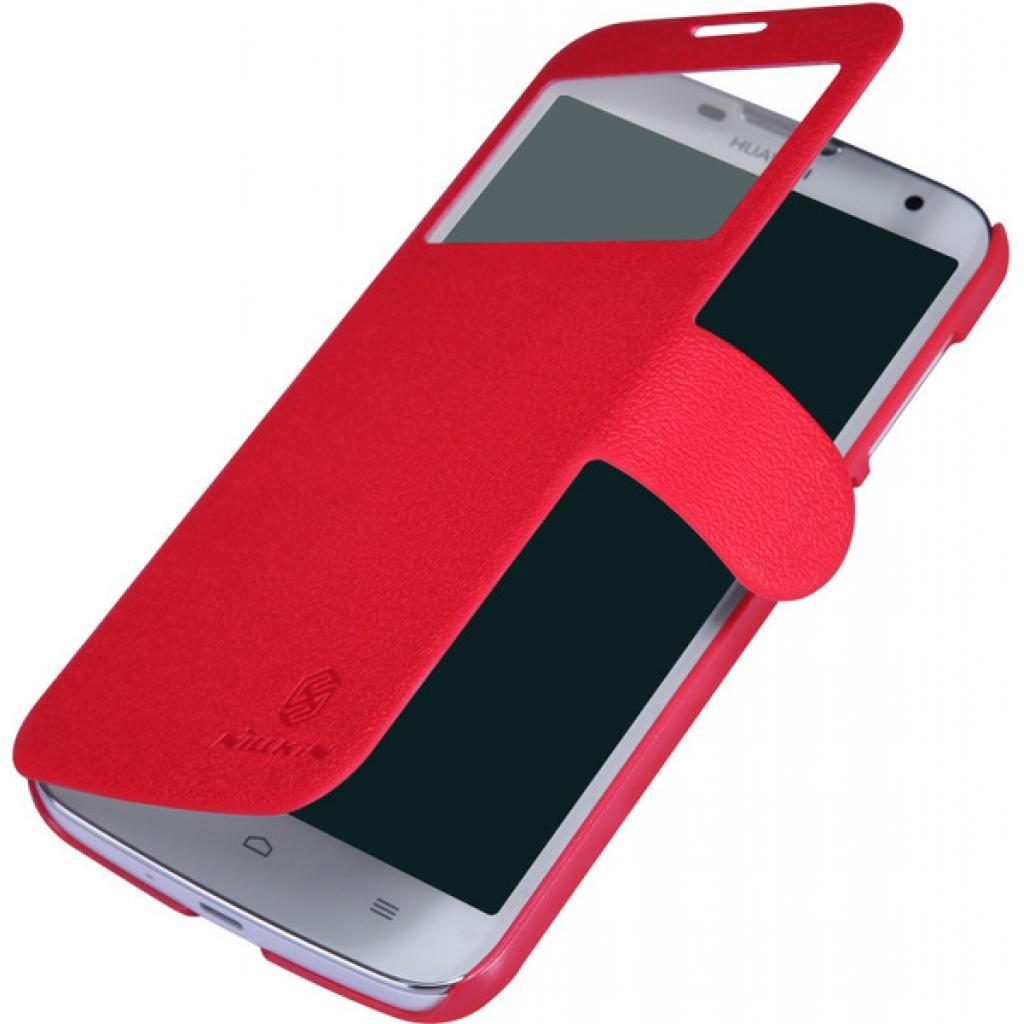 Чехол для моб. телефона NILLKIN для Huawei G730/Fresh/ Leather/Red (6147125) изображение 2