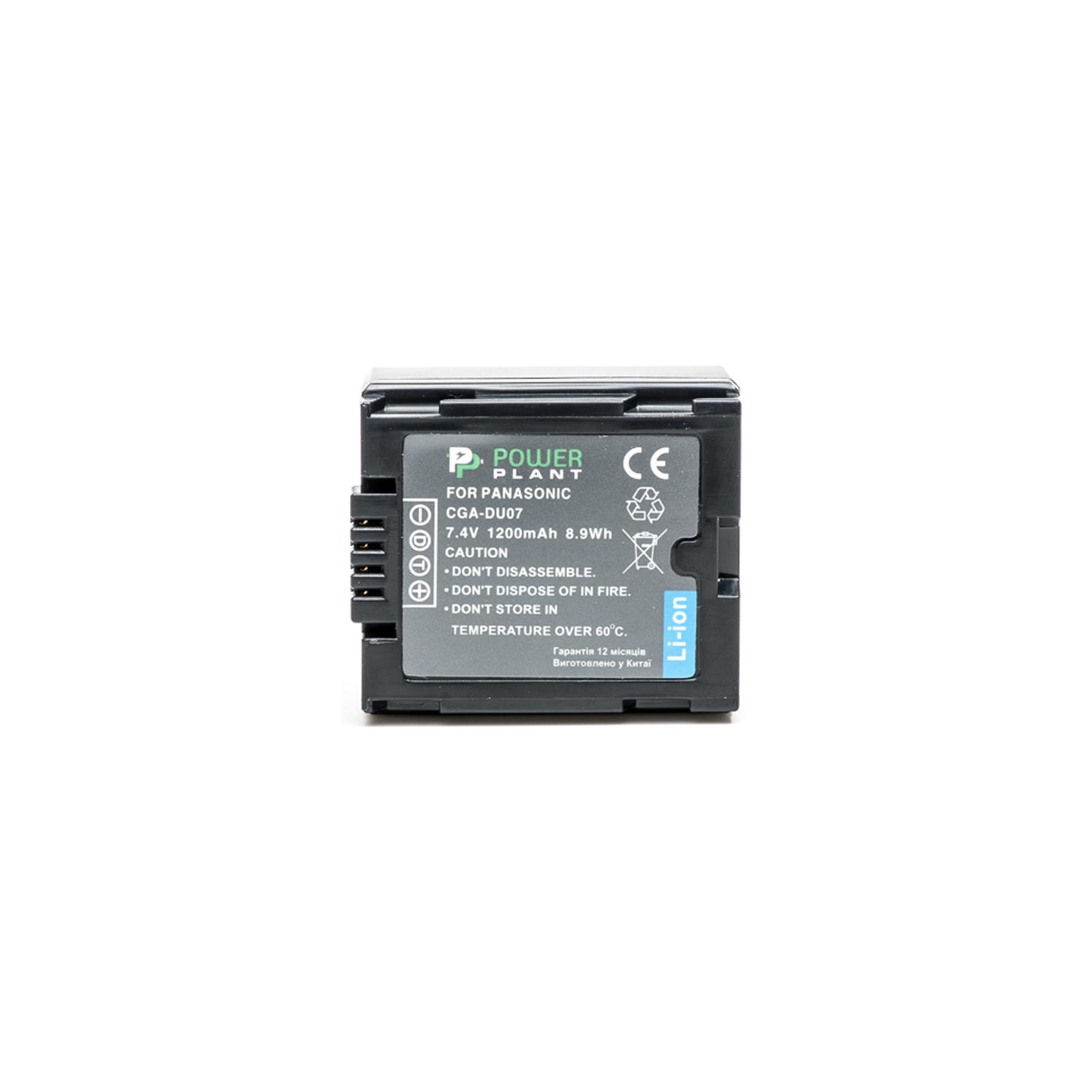 Аккумулятор к фото/видео PowerPlant Panasonic VW-VBD070, CGA-DU07 (DV00DV1339) изображение 2