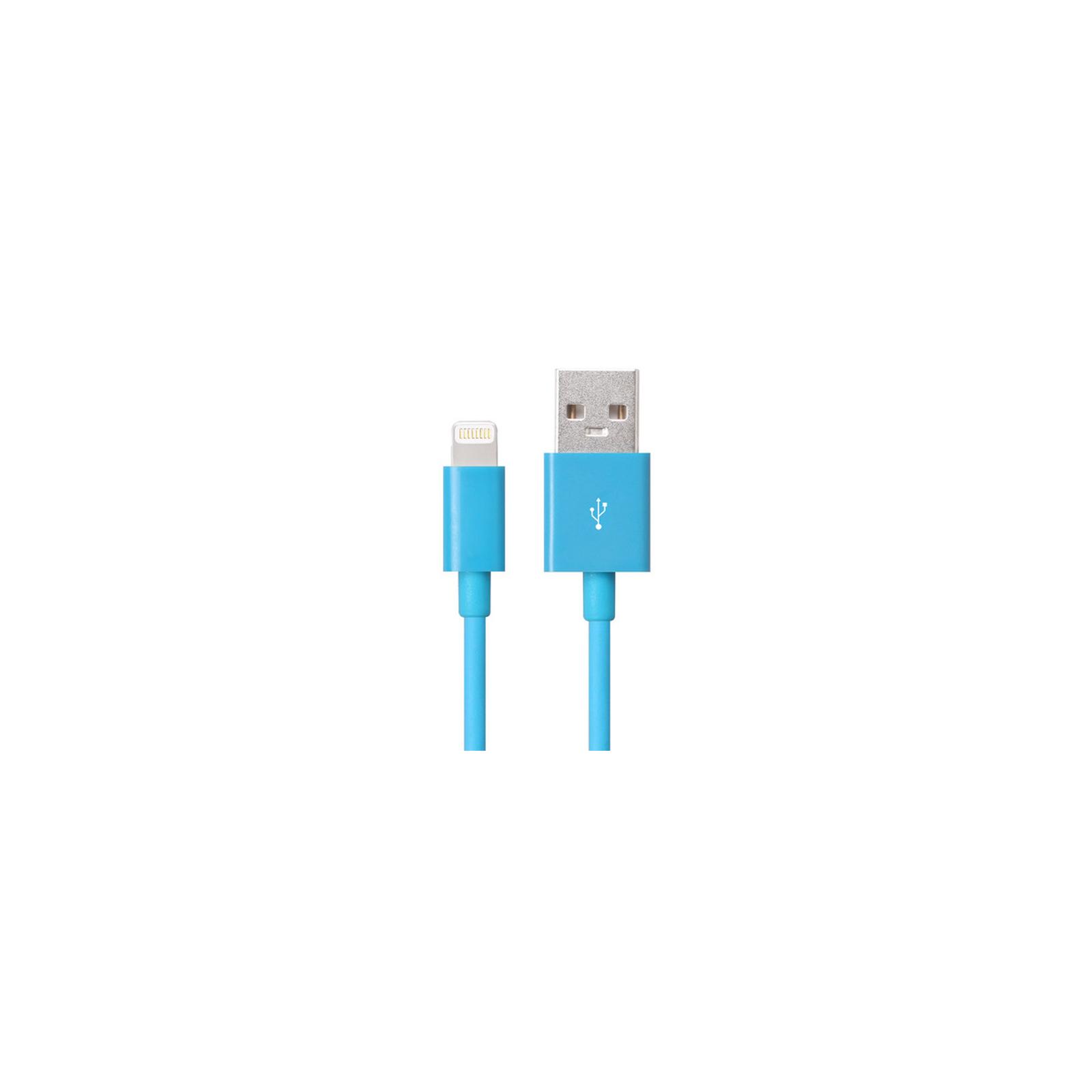 Дата кабель JUST Simple Lighting USB Cable Blue 1M (LGTNG-SMP10-BLUE)